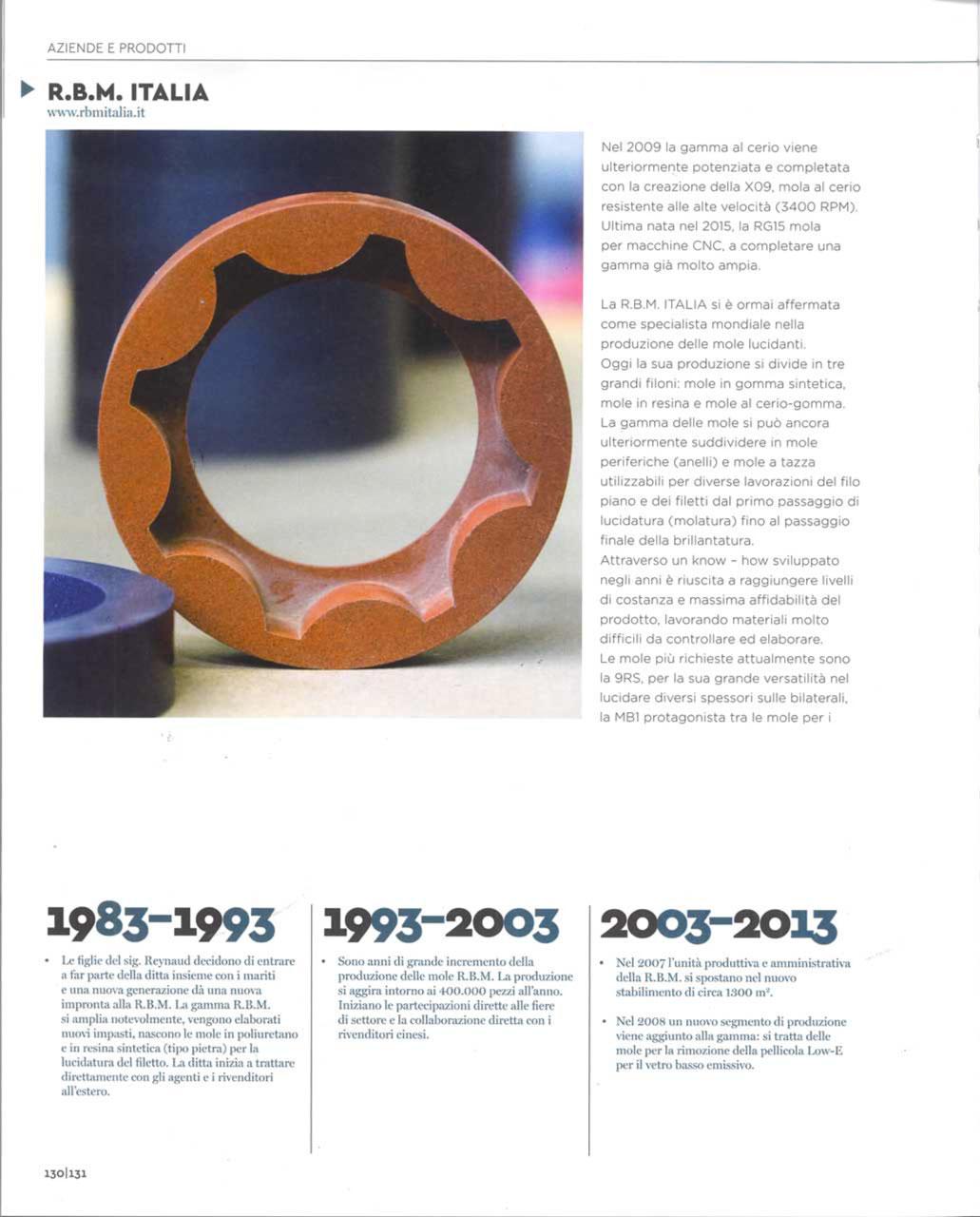 La Pietra Srl Asti rbm italia s.r.l. - polishing wheels for glass - about us